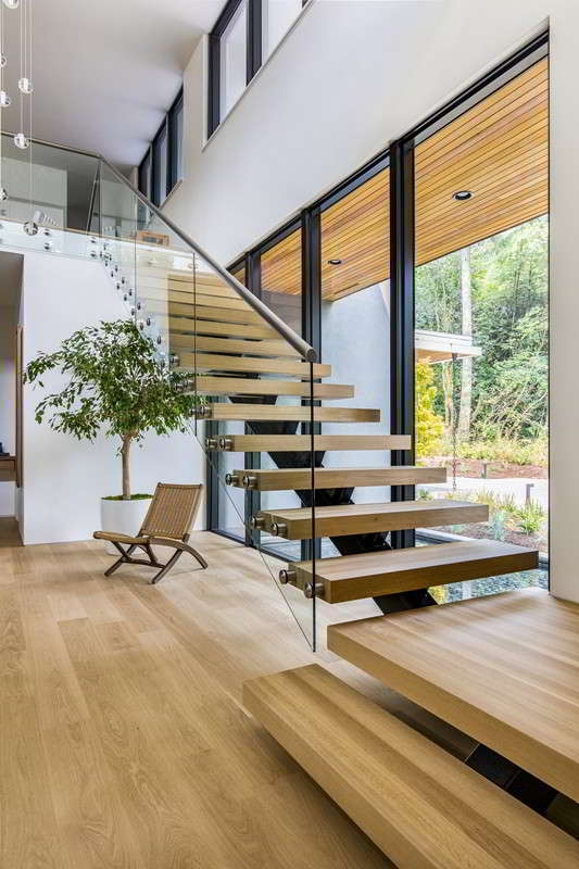Mono Stringer Staircase Demax Arch   Glass Spiral Staircase Cost   Laminated Glass Railing   Stair Railing   Stainless Steel   Prefabricate Stainless   Low Cost
