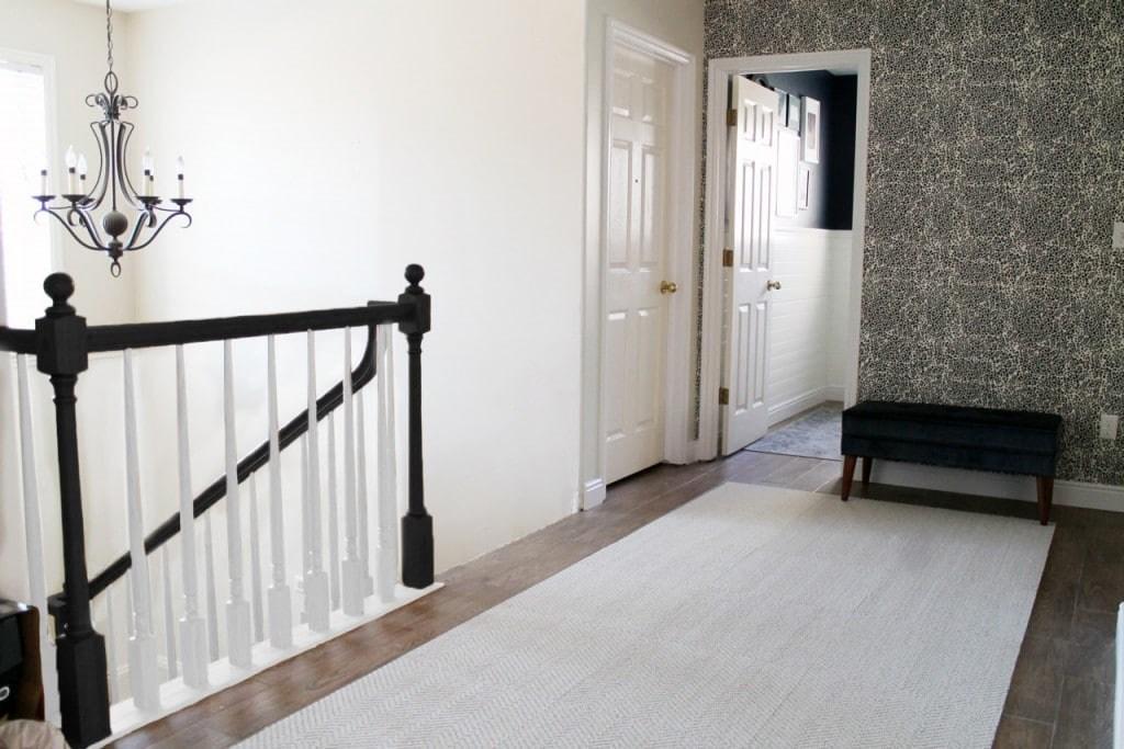 The Orange Elephant In The Room Chris Loves Julia | Black Banister White Spindles | Black Railing | Funky | Victorian | Iron Spindle White Catwalk Brown Railing | White Mahogany Hand Rail Oak