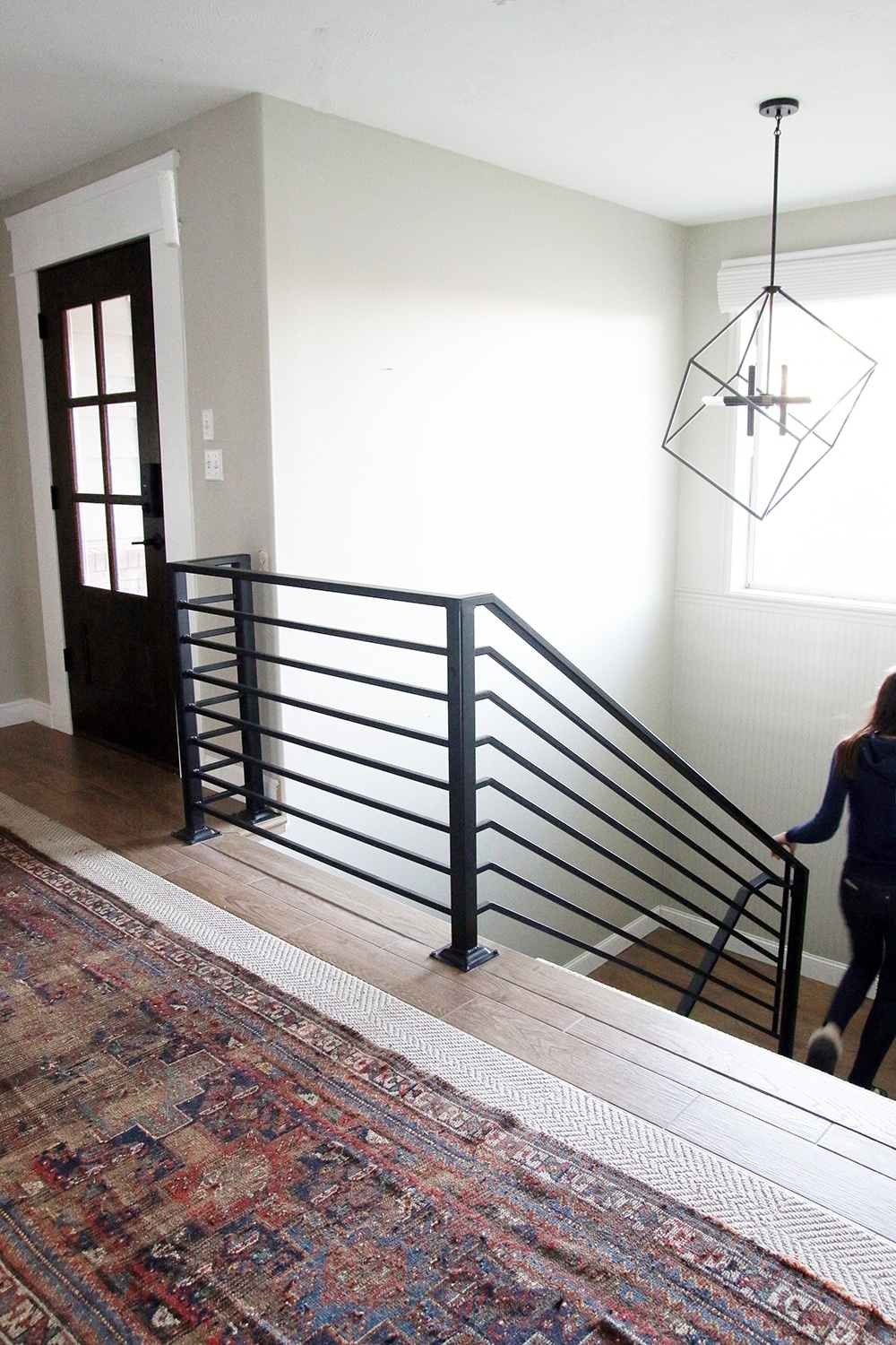 All The Details On Our New Horizontal Stair Railing Chris Loves | Wooden Stair Railing Prices | Staircase Ideas | Deck Railing | Frameless Glass | Steel | Glass Stair