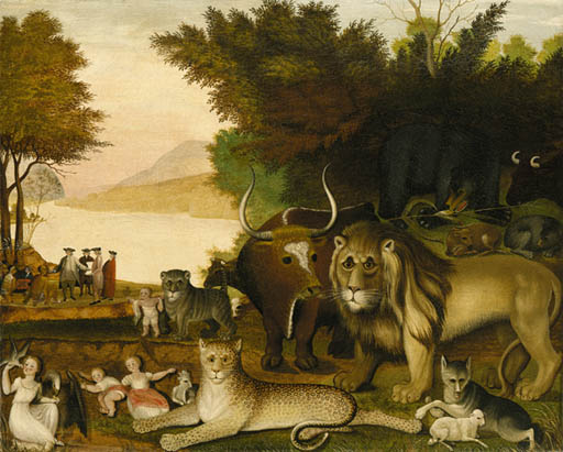 Edward Hicks 1780 1849 Peaceable Kingdom Christie S