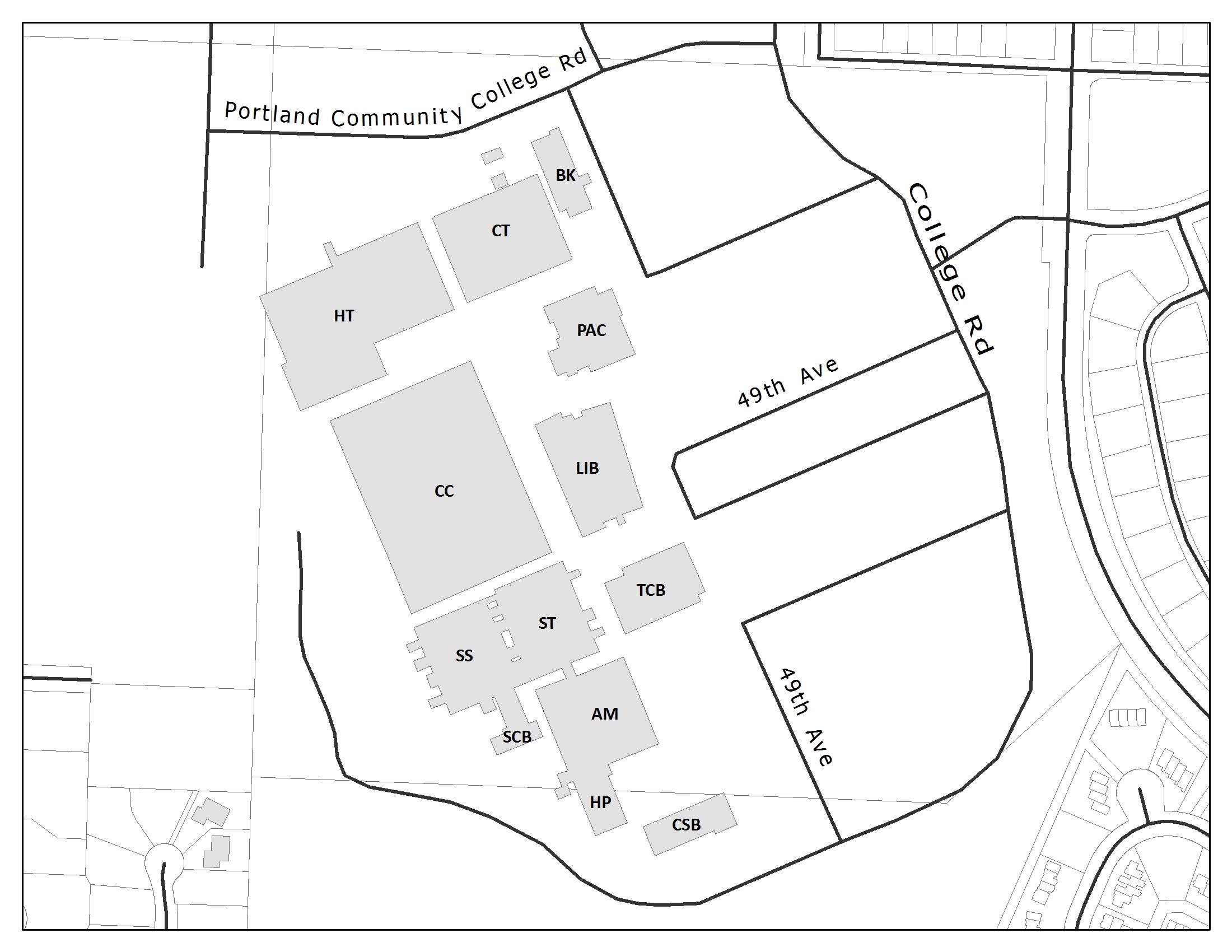 Map Campus Pcc Sylvania