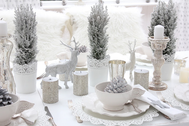 Winter Decorations  After Christmas Decorating Ideas   Christmas     Winter Tablescape