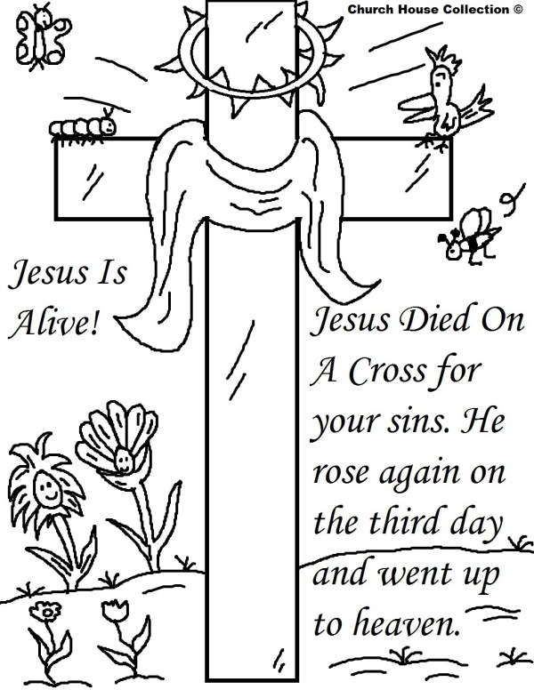 jesus on the cross coloring page # 57