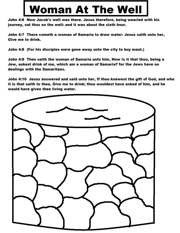 woman at the well coloring page # 13