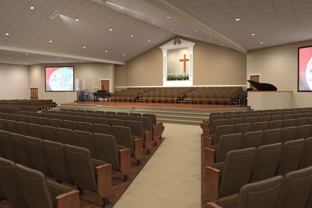 Contemporary Renovations Of Church Sanctuary
