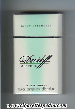 Davidoff (Menthol Light Freshness) L-20-H - Germany ...