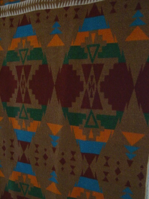 Oregon City Indian Trade Blanket With Label Sold Cindy