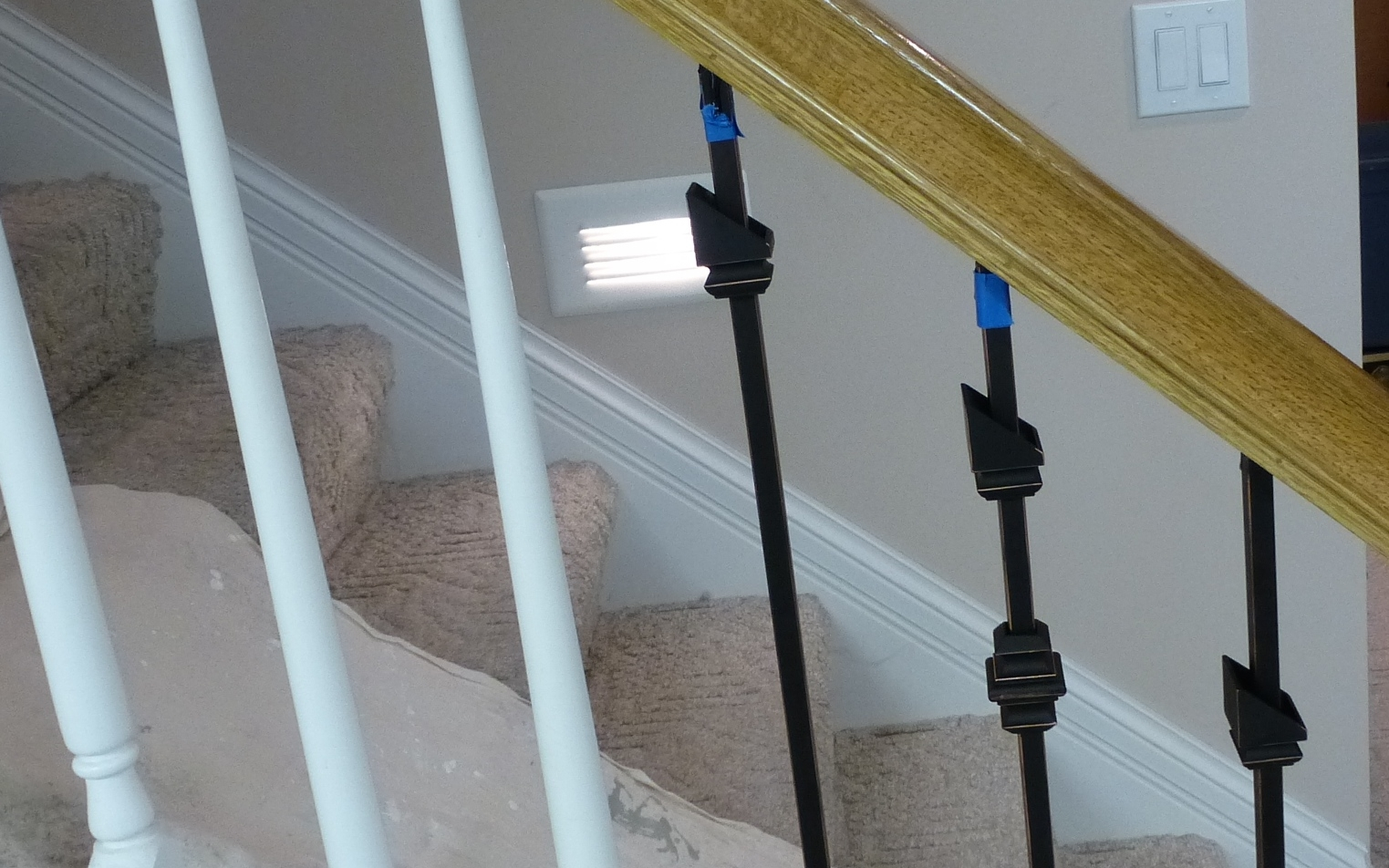 Replacing Wooden Stair Balusters Spindles With Wrought Iron | Replacing Wood Spindles With Metal | Stair Spindles | Iron Stair Balusters | Stair Parts | Stair Railing | Staircase