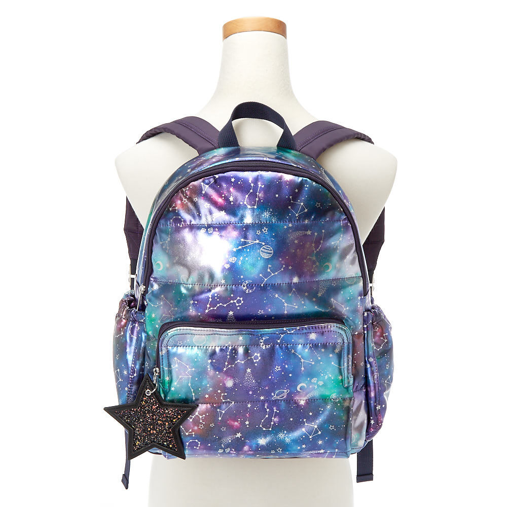 Galaxy Functional Backpack -Purple | Claire's US