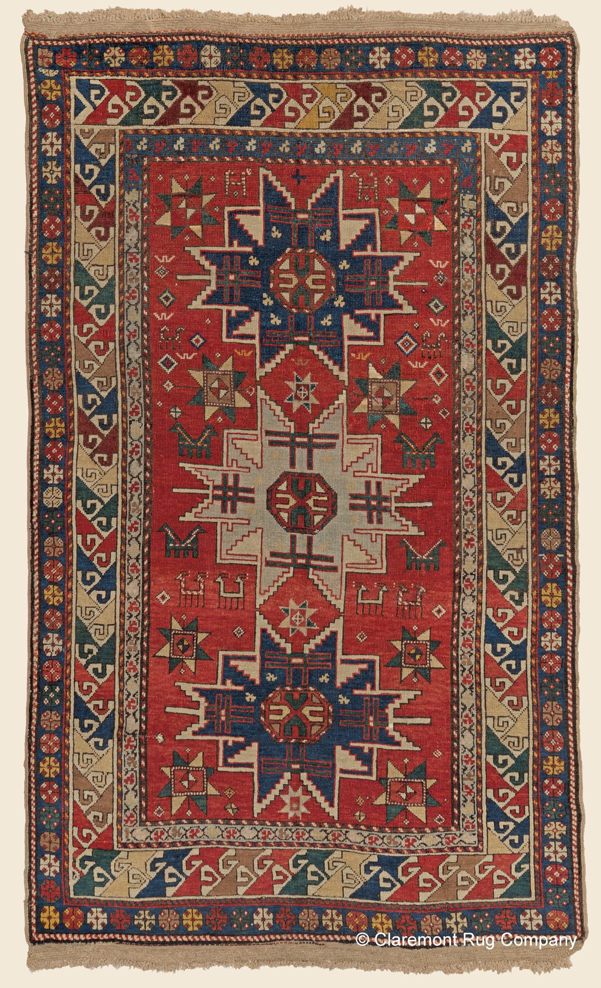 Kazak Quot Lesghi Star Quot Southern Central Caucasian Antique