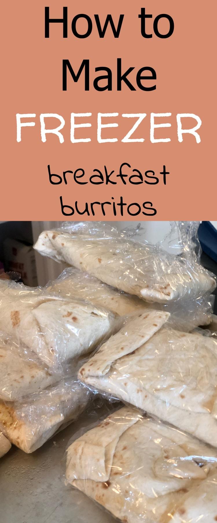 How to Make Freezer Breakfast Burritos - Click here to learn! #breakfastburritos #breakfast #breakfastideas #recipes #breakfastclub #freezermeals #freezercooking #frozenmeals #mealprep #healthyeating #healthyrecipes #healthybreakfasts breakfast burritos / homemade breakfast burritos via @clarkscondensed