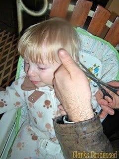 Cutting a Baby Boy's Hair