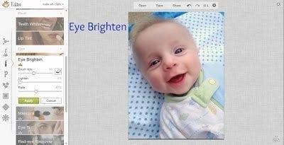 PicMonkey Eye Brighten