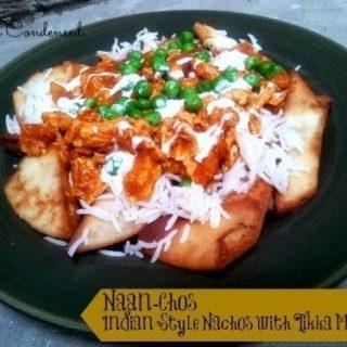 Naan-chos: Indian Style Nachos