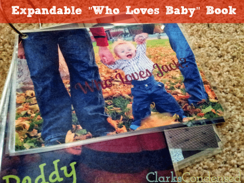 """Easy and expandable """"Who Loves Baby"""" book by Clarks Condensed -- the perfect way to show your child all the people who love him or her"""
