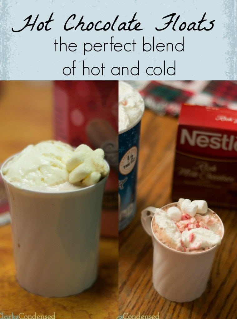 Hot Chocolate floats - the perfect blend of hot and cold #cbias #shop #HolidayReady