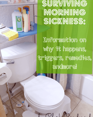 Image with banner telling about Morning Sickness