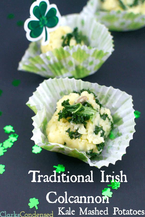 Irish Calcannon a traditional, Irish side dish made with mashed potatoes, kale, and cream.