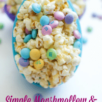 Simple M&M and Marshmallow Popcorn