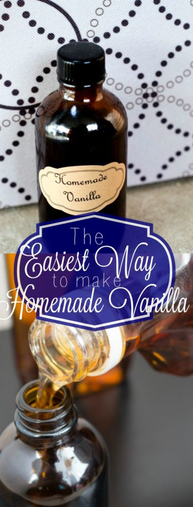 Once you make homemade vanilla, you can't go back. Here is the simplest way to make homemade vanilla! via @clarkscondensed