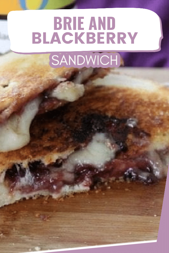 This brie and blackberry sandwich is a fantastic vegetarian lunch option. It's filled with melty brie, juicy blackberries, and it's grilled to perfection. via @clarkscondensed