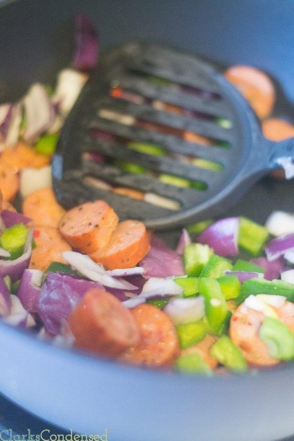 Veggies to the Jambalaya recipe