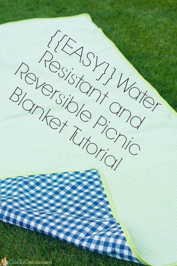 Waterproof Picnic Blanket Tutorial