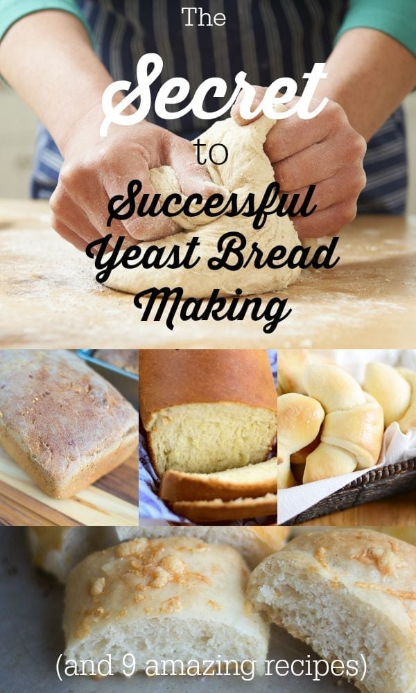 "Does baking bread making you nervous or are you just looking for some bread making tips? Here is the ""secret"" to bread making, as well as 9 easy yeast bread recipes to try."