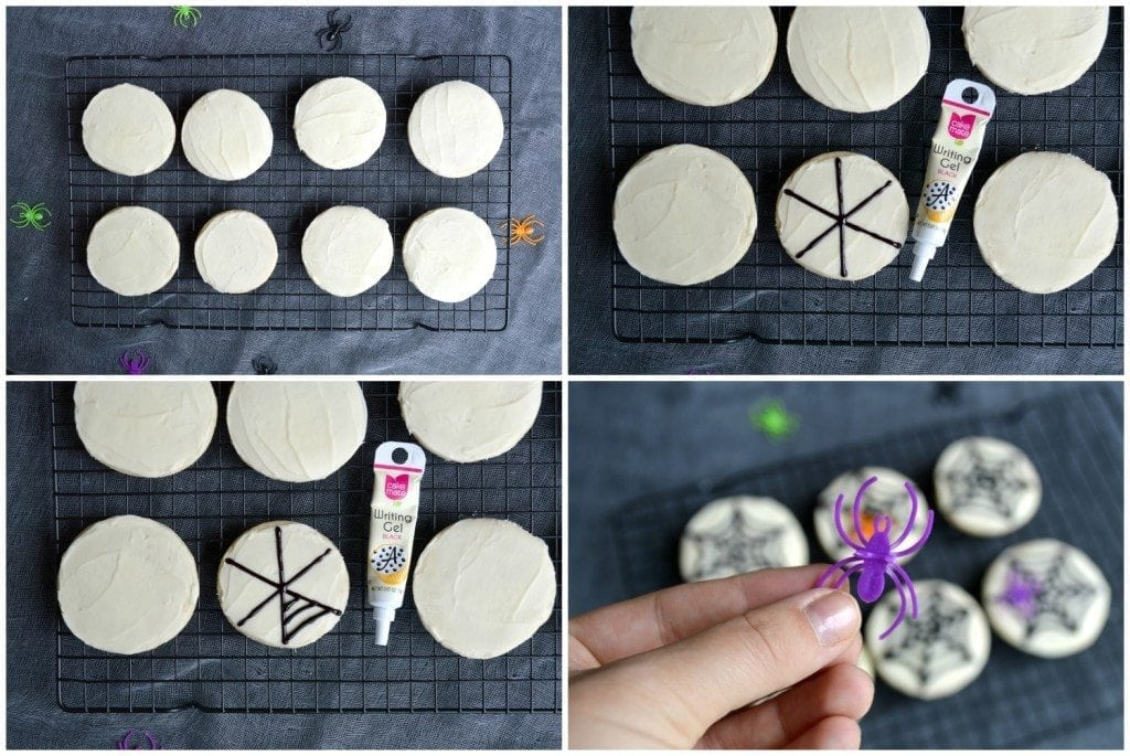How to make spiderweb sugar cookies - perfect for Halloween!