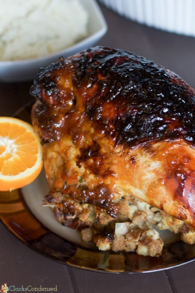Looking for a non-traditional turkey recipe this Thanksgiving? This orange glazed turkey recipe is very simple to put together, and it has amazing flavor. It's perfect for any Turkey day feast this year!