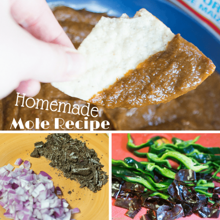 This homemade mole sauce has the perfect amount of sweetness and spice. Perfect for enchiladas, chips, and even hot dogs!