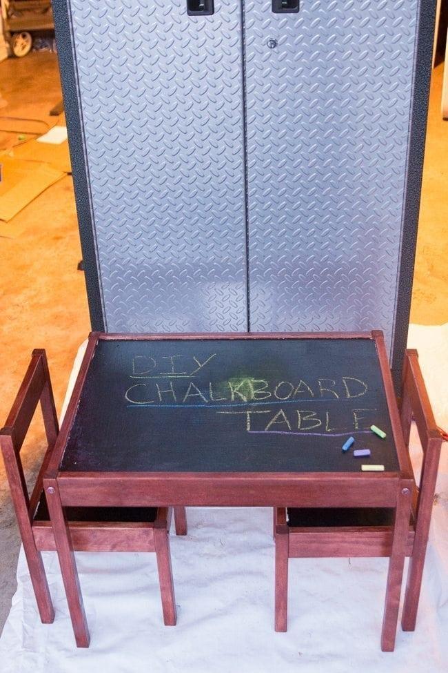 DIY Chalkboard table tutorial - IKEA hack.  via @clarkscondensed