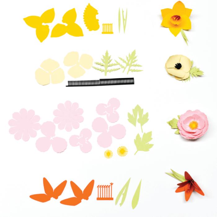 cricut 3d flowers