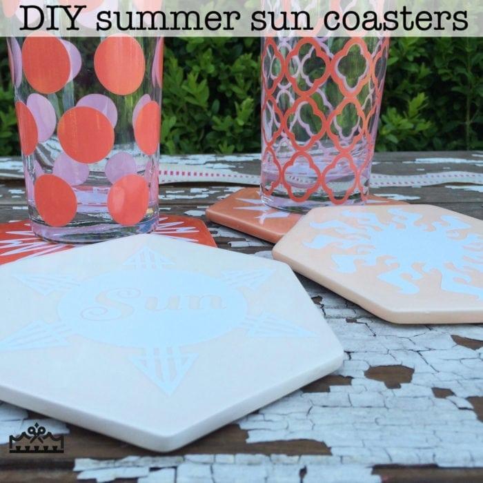summer sun coasters
