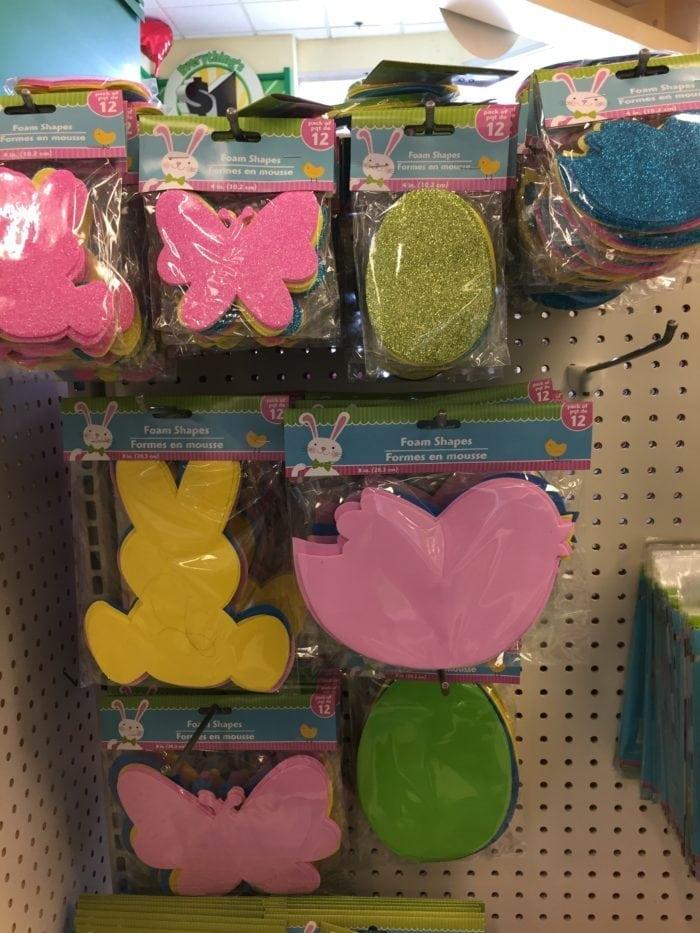 Easter basket stuffers on display