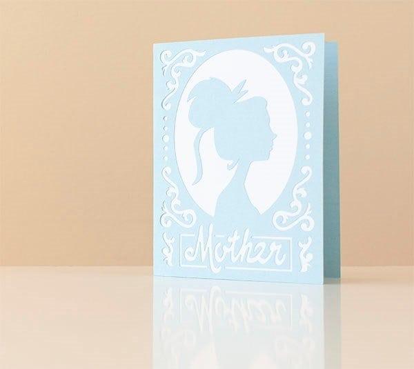 mom silhouette card