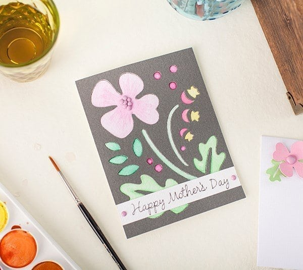 flower mother\'s day card