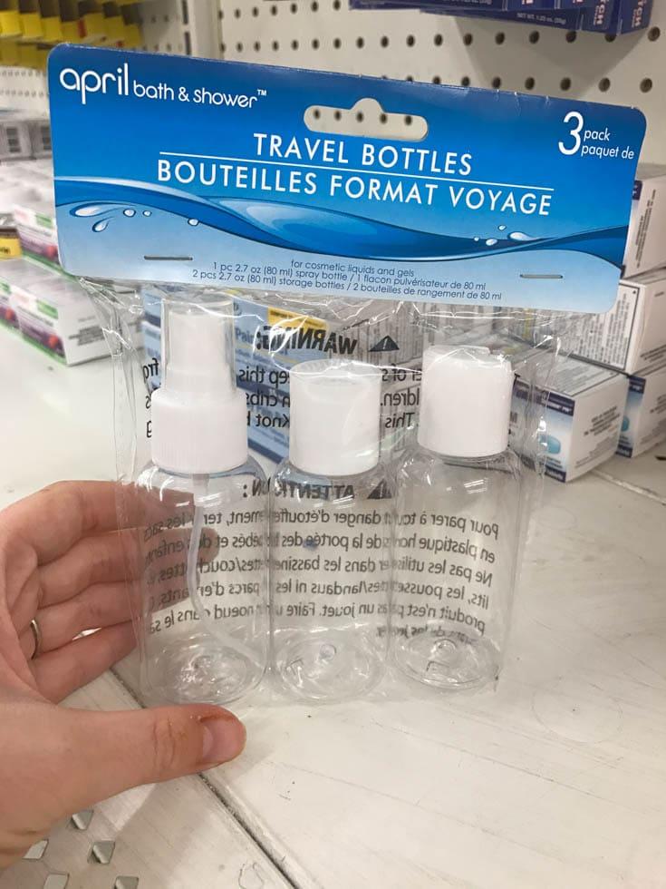 dollar tree travel bottles