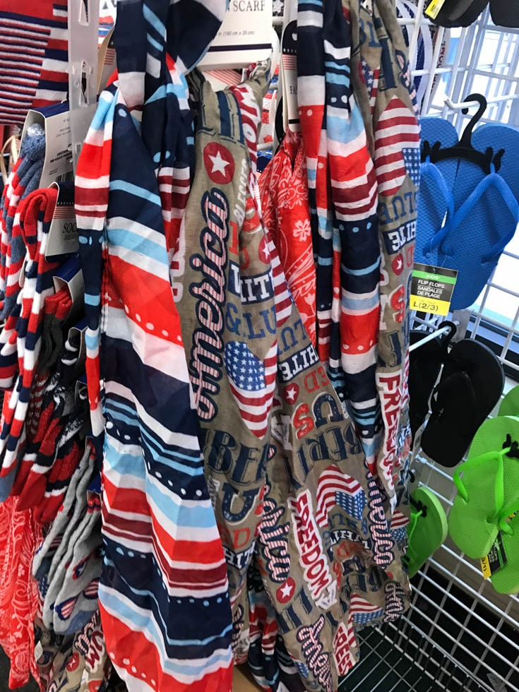 dollar tree patriotic scarves