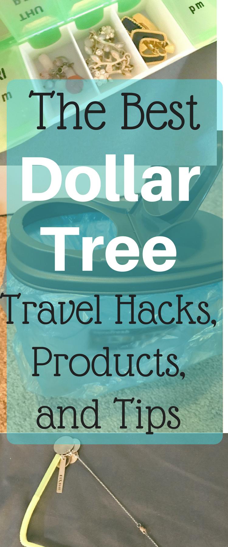 Dollar Tree Travel Hacks / Dollar Tree Hacks / Dollar Tree Tips / Dollar Tree Products / Travel Tips / Family Travel / Travel Hacks / Dollar Store Tips / Dollar Store Travel