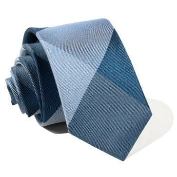 A close up of a tie