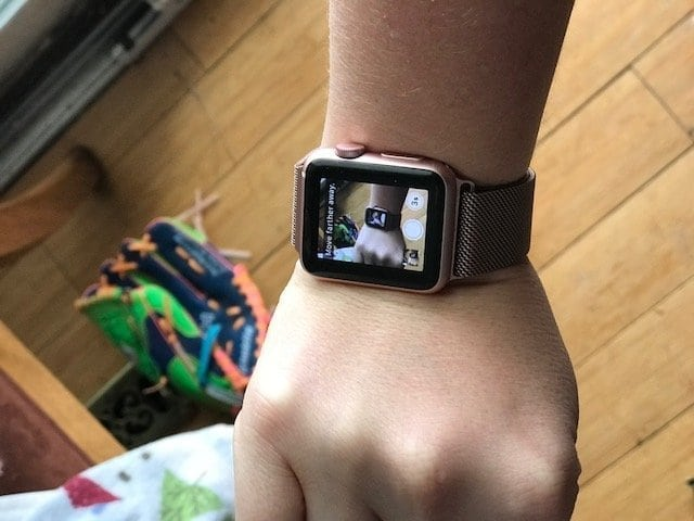 Close up of an iwatch