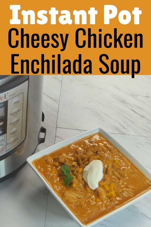 Instant Pot Chicken Enchilada Soup / Instant Pot Soup / INstant Pot Recipes / PRessure Cooker ENchilada Soup / #InstantPot #PressureCooker #soup