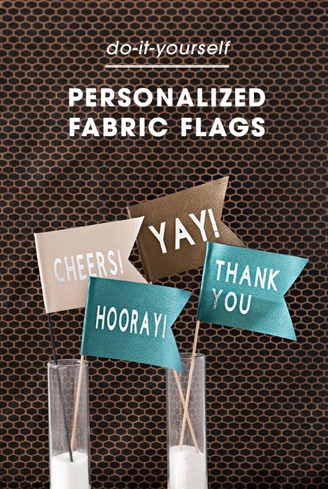 DIY fabric flags