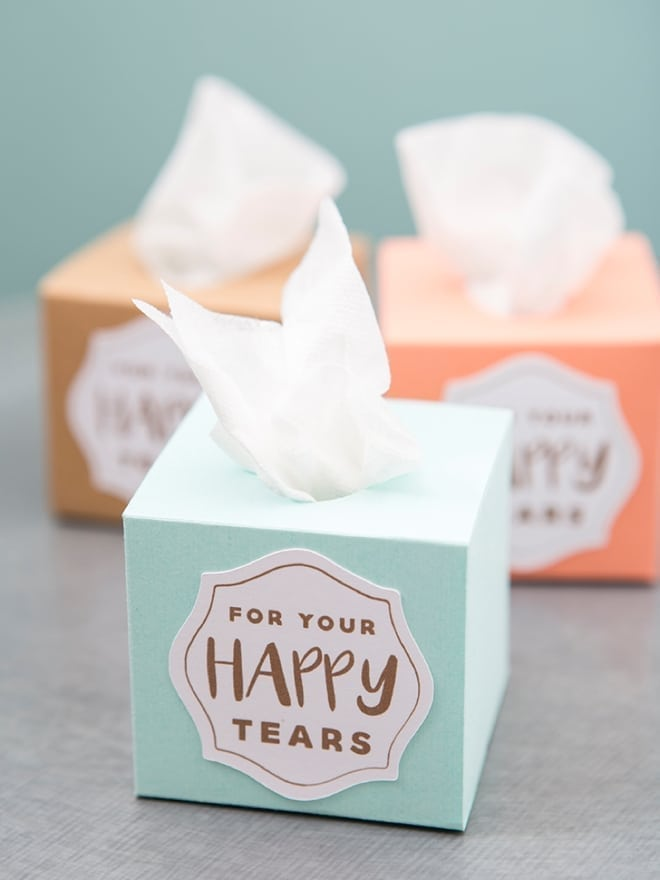 A close up of a box of tissues