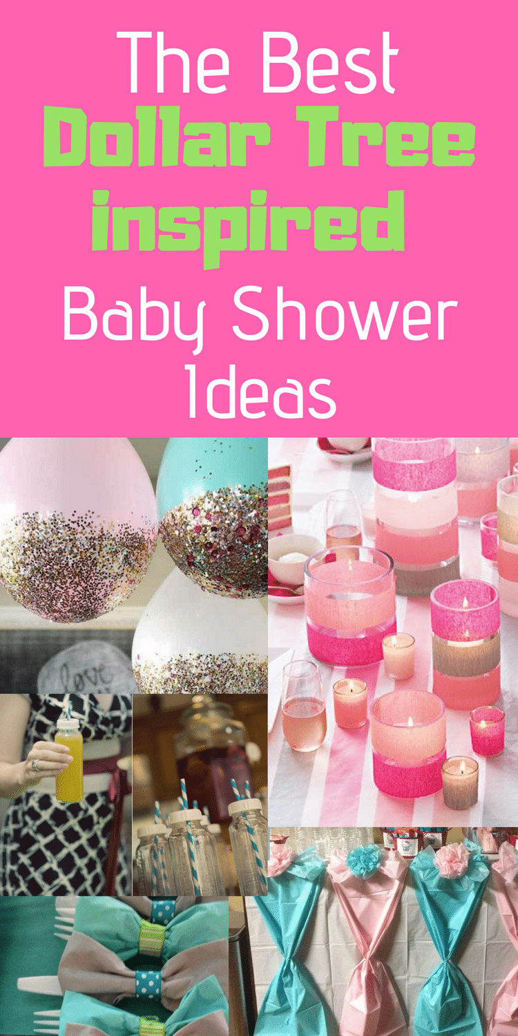 Dollar Tree Baby Shower Ideas / Cheap Baby Shower Ideas / Baby Shower Ideas / Cute Baby Shower / Baby Shower / DIY Baby Shower via @clarkscondensed