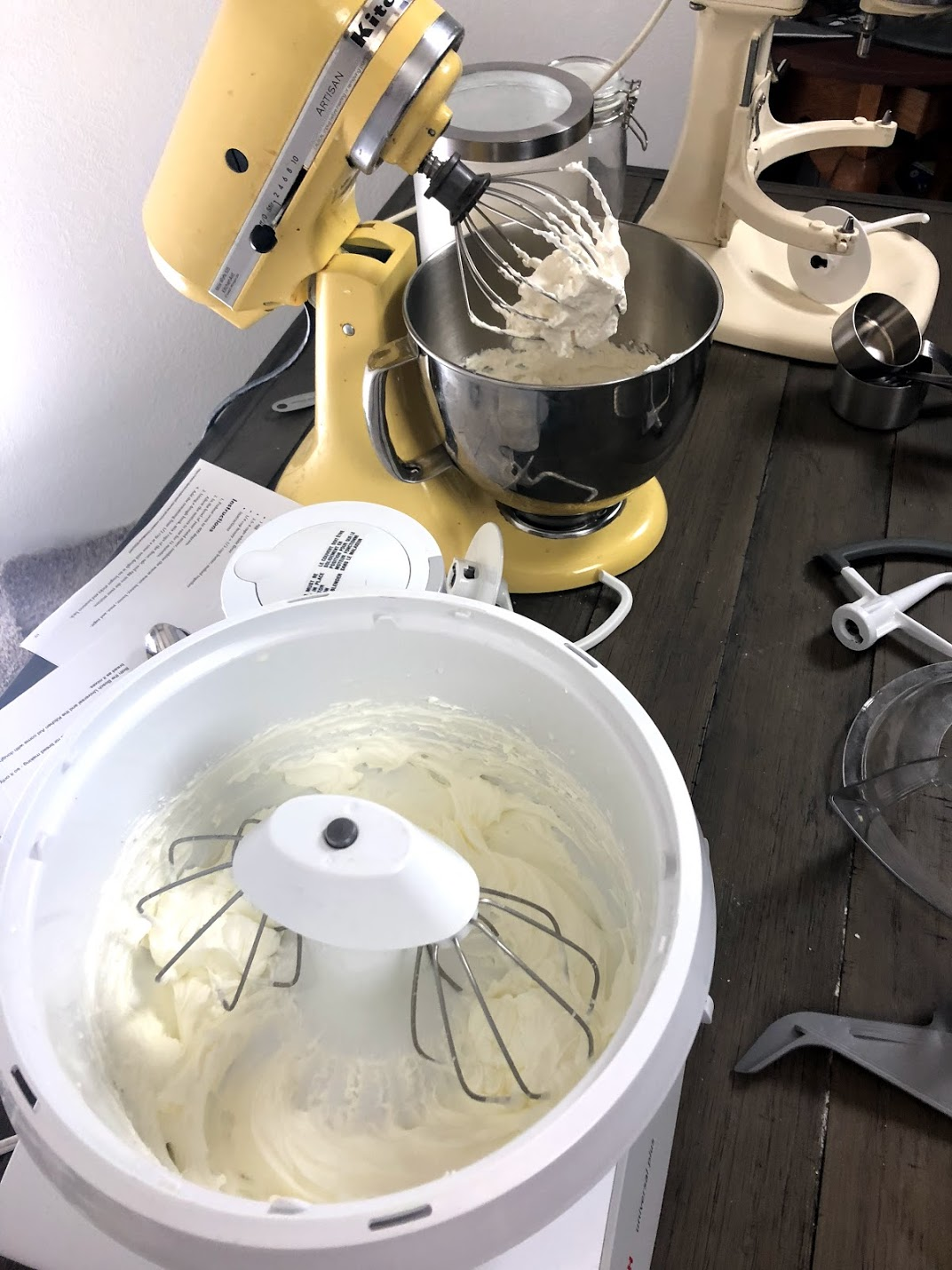 whipped cream in bosch mixer