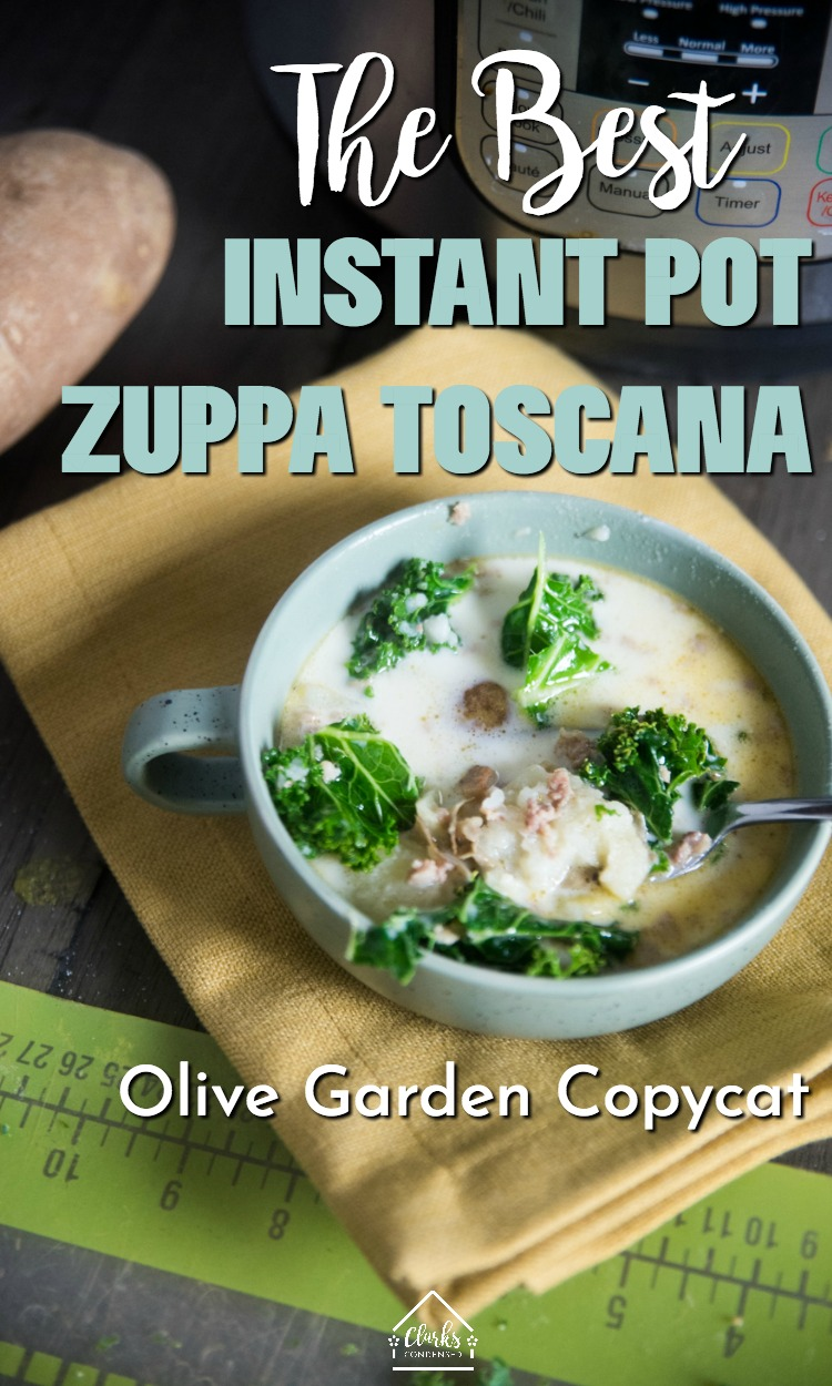 Zuppa Toscana / Instant Pot Soup Recipes / Olive Garden Copycat / Olive Garden Zuppa Toscana #copycat #restaurantrecipes #instantpot  via @clarkscondensed
