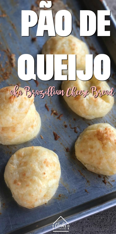 Pão de Queijo Recipe / Pão de Queijo Receita / Brazillian Cheese Bread / Brazillian Recipes via @clarkscondensed
