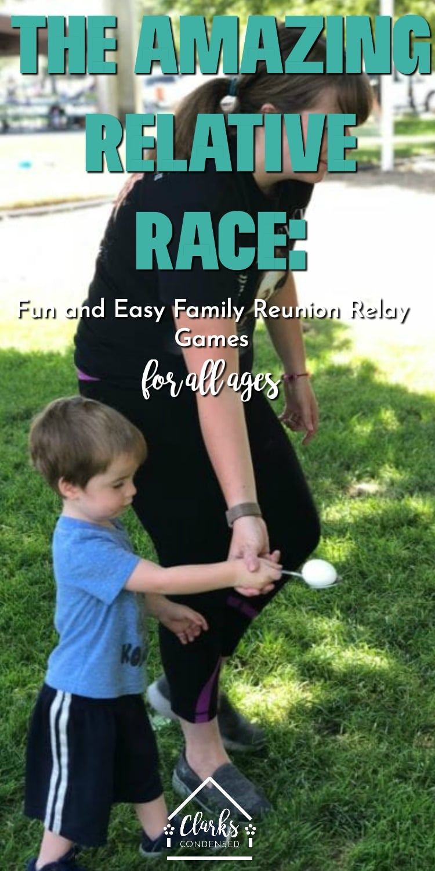 Family Reunion Ideas / Relay Games / Relay Race / Amazing Race / Relative Race #familyreunion #reunion #relay #groupgames via @clarkscondensed